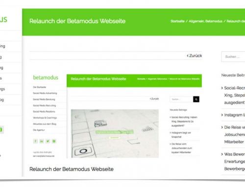 Relaunch der Betamodus Webseite