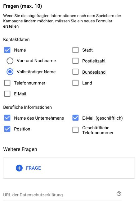 Google Lead Ads | Fragen