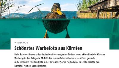 Visual Storytelling - Kärnten lieferte Foto mit Perspektive